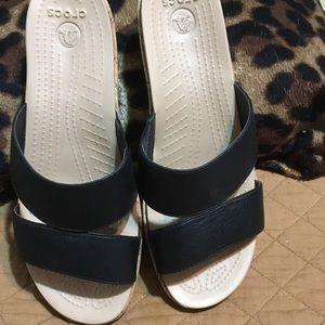 Crocs Sandals size 9.5 black